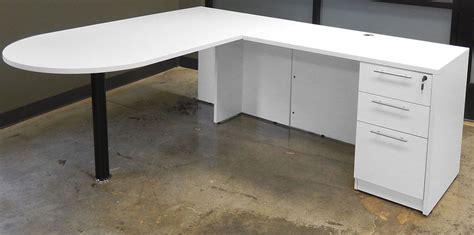 white desk l shaped white u shaped workstation w hutch