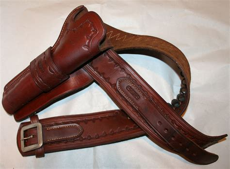 leather gun belt and holster tooled leather western gun belt and holster davis size 36 belt cowboy usa