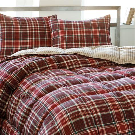plaid bedding sets eddie bauer northwood plaid comforter set from