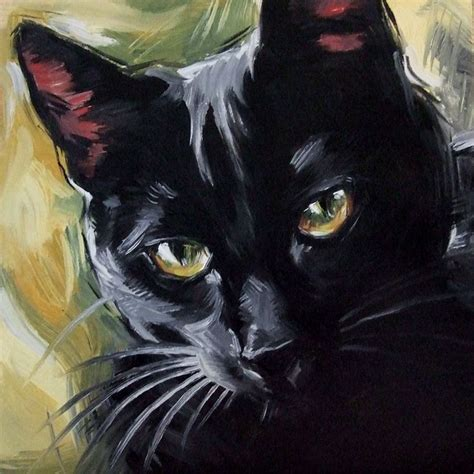 1000 Ideas About Black Cat Painting On Cat