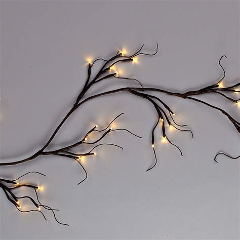 white lighted garland led lighted brown wrapped garland warm white