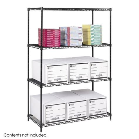 industrial wire shelving 48 quot x24 quot industrial wire shelving in black 5294bl