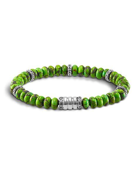 mens beaded bracelet hardy mohave bedeg mens beaded bracelet in green for