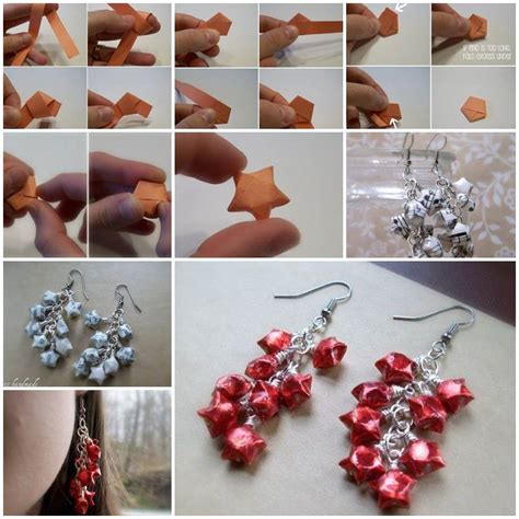 how to make origami jewelry diy origami lucky earrings