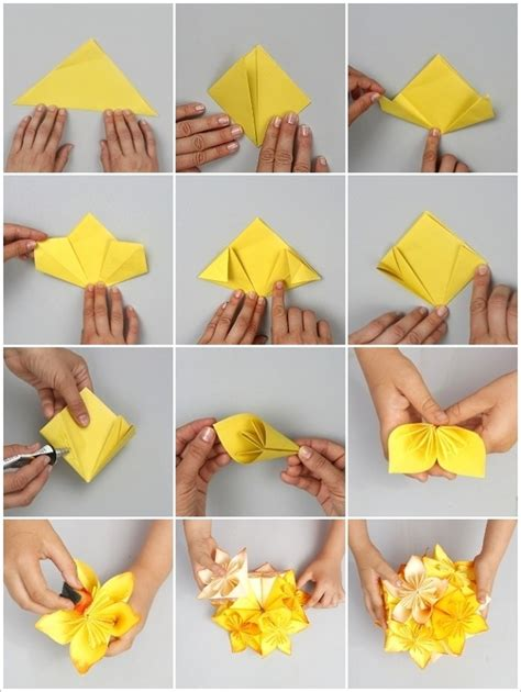 origami paper flower tutorial diy origami flower project home design garden