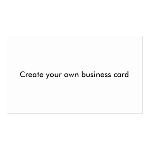 make ur own cards create your own business card zazzle