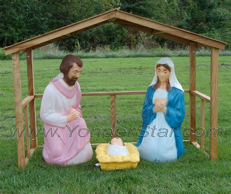 outdoor creche lighted outdoor nativity with stable