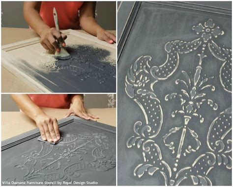 diy chalk paint uk how to stencil create a diy raised carved wood effect