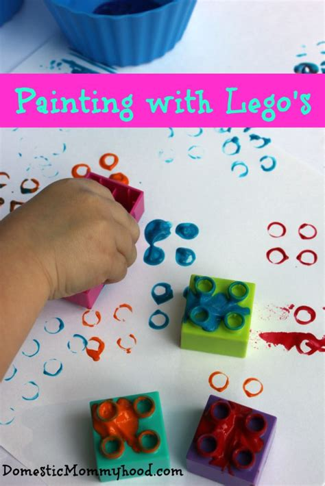 painting crafts for activity painting with lego s domestic mommyhood