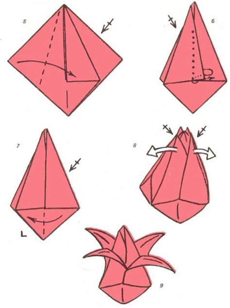 origami tulip step by step arts and crafts origami volume tulip folding