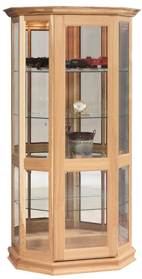 door curio cabinet angled curio cabinet with sliding door from dutchcrafters