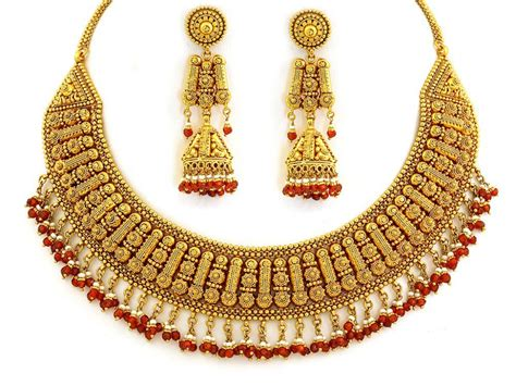 gold for jewelry gold jewellery designs 22kt designer necklace set