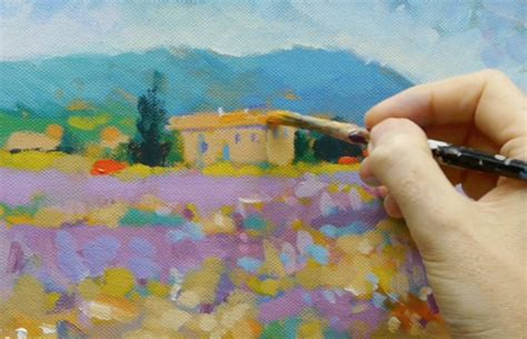 acrylic painting lessons step by step how to paint like monet acrylic landscape painting lesson