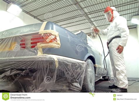 spray paint truck car mechanic and paint spray stock image image 1883907