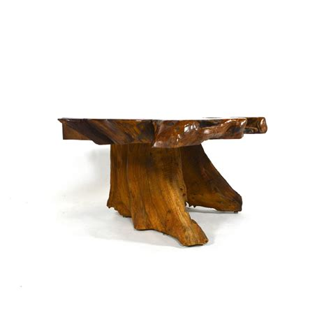 redwood burl table californian redwood burl coffee table at 1stdibs