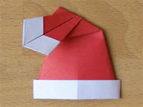 santa hat origami santa hat origami paper origami guide