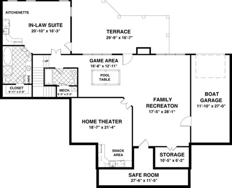 house plan with basement the meadow 1169 3 bedrooms and 3 5 baths the