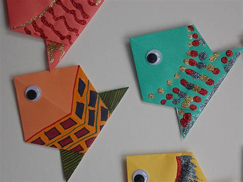 easy paper crafts for children craft photos 141 origami fish 3
