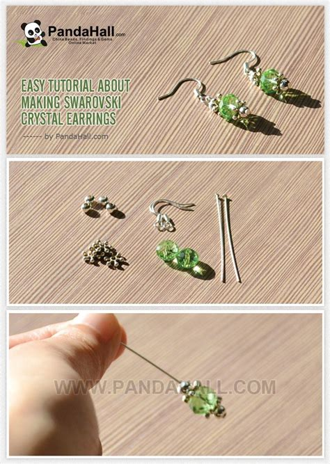 learn to make jewelry at home easy tutorial about swarovski earrings