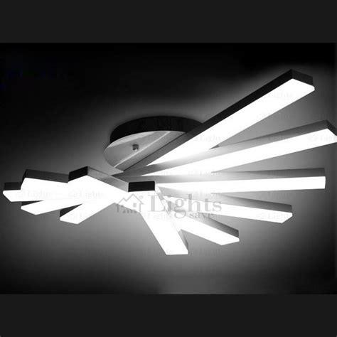 lights ceiling creative fan shaped rotate led ceiling light fixture