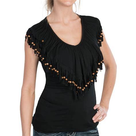 fringe shirt with rancho estancia beaded fringe shirt sleeveless for