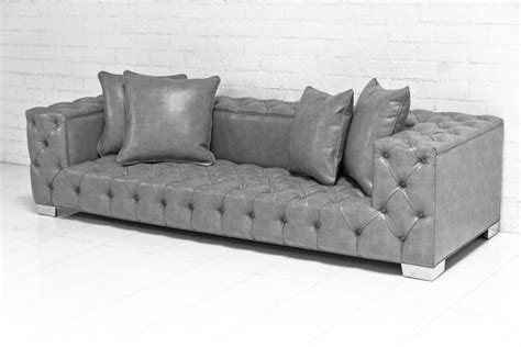 grey leather tufted sofa www roomservicestore tufted boy sofa in grey
