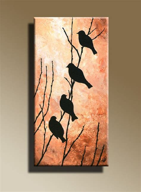 how to draw with acrylic paint on canvas canvas print of original acrylic painting bird