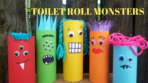 Toilet Paper You Monster by How To Make A Toilet Paper Roll Monster Toilet Paper