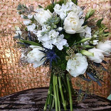 avant garden flowers whimsical garden bouquet in blue green and white we re