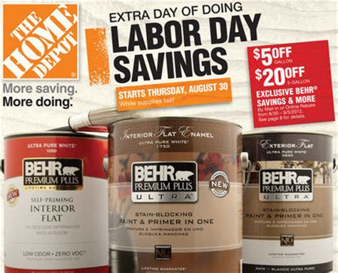 home depot paint sale this weekend home depot labor day weekend deals