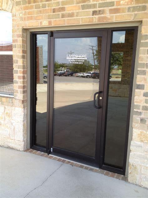 store front glass doors single glass storefront door