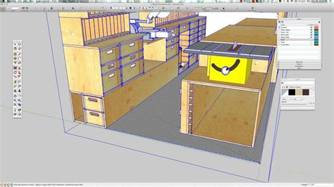 mobile woodworking shop paulk mobile woodshop sketchup model