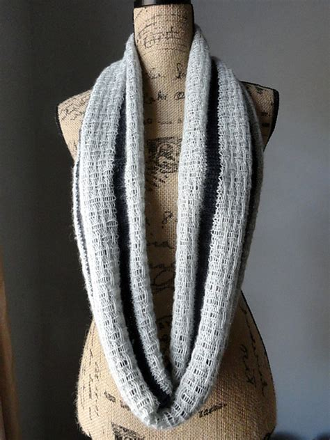 Knitting Patterns Galore A Striped Affair Infinity Scarf