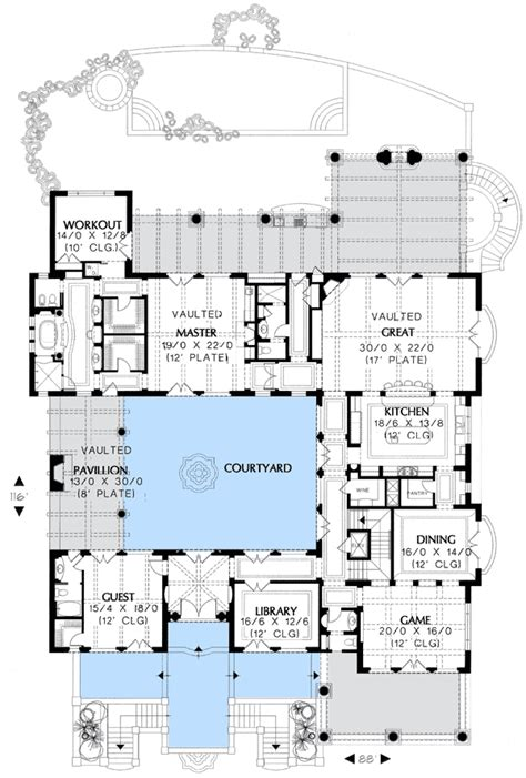 eat in kitchen floor plans floor 1 no dining room just an eat in kitchen room and library for offices home