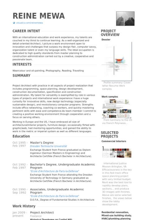 project architect resume samples visualcv resume samples