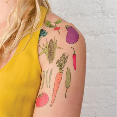 tattly vegetable tattoos the garden scoutthe garden scout