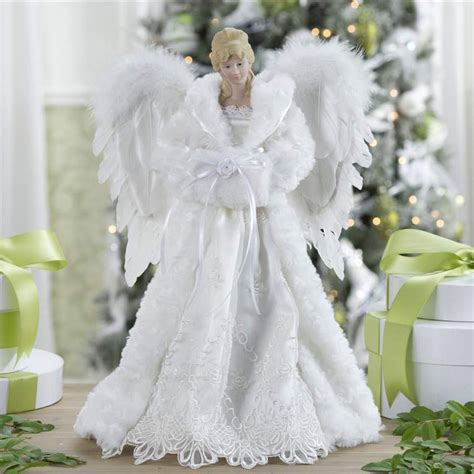 white tree topper decorations 16 5 quot white tree topper