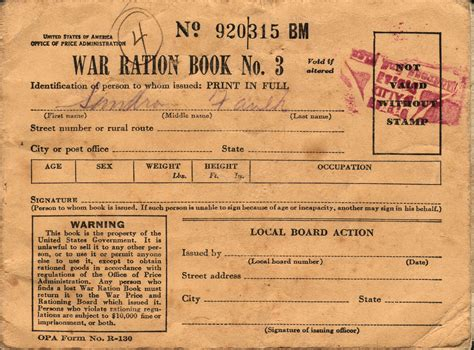 pictures of ration books war ration book no 3