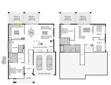 split level contemporary house plan 80789pm 1st floor horizon act floorplans mcdonald jones homes