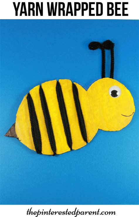 bumble bee crafts for yarn wrapped bumble bee craft the pinterested parent