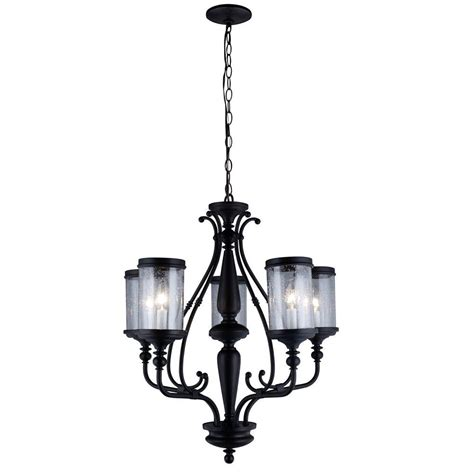seeded glass chandelier world imports estella collection 5 light rubbed bronze