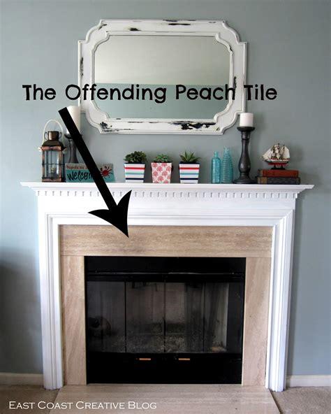 chalk paint fireplace tile stenciled faux tile fireplace tutorial east coast