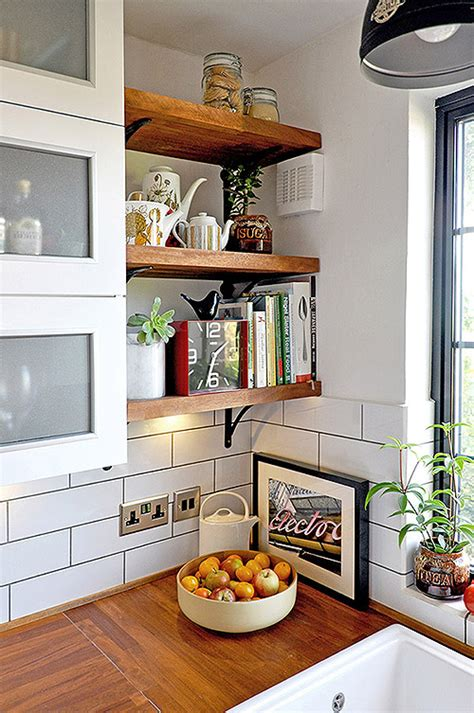 kitchen wall shelves ideas 65 ideas of using open kitchen wall shelves shelterness