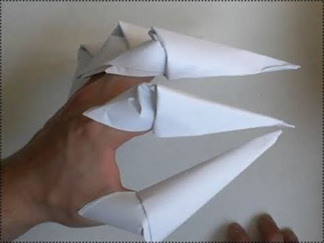 paper claw origami how to make paper claws origami finger claws