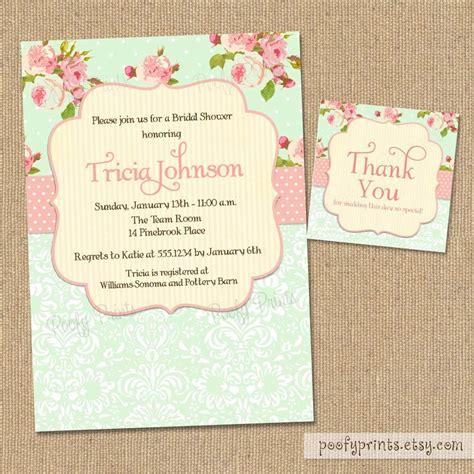 shabby chic wedding invitation templates shabby chic bridal shower invitations free matching
