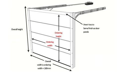 overhead garage door dimensions garage door sizes and measurements up and