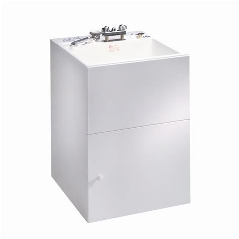 laundry sink with cabinet shop crane plumbing composite laundry sink in white cabinet at lowes