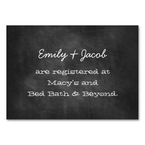 i want to make my own business cards chalkboard wedding shower registry insert cards business