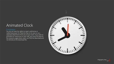 free animated free powerpoint template with animated clock