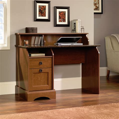 hutch style computer desk new sauder graham hill hutch style computer desk autumn